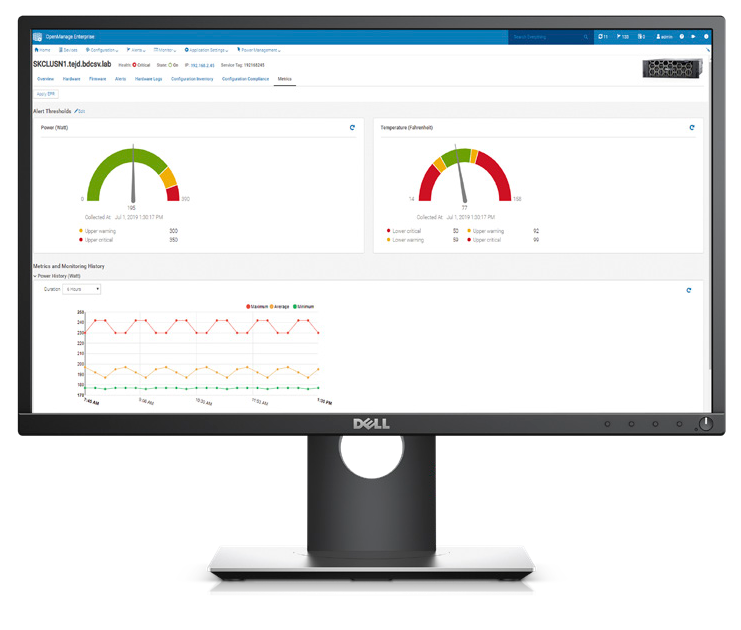 Dell EMC OpenManage Enterprise Power Manager