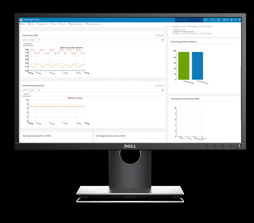 OpenManage Enterprise PowerManager Main Screen View