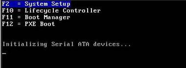 POST menu for System Setup
