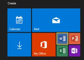 Windows 10 Tiles