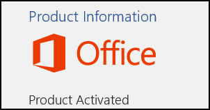 Office Product Activation