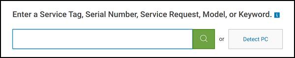 Dell.com Enter Service Tag