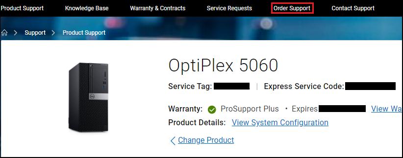 Dell.com Order Support