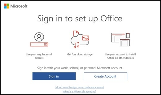 Microsoft Sign In To Set Up Office