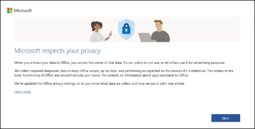 Microsoft respects Your Privacy