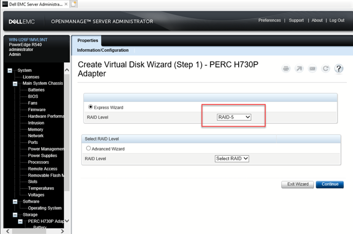 HOW17101_en_US__6Dell_OMSA_Virtual_Disk_Wizard_Step1