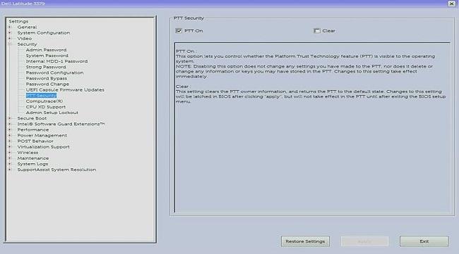 HOW12395_ja__3PTT Security BIOS menu