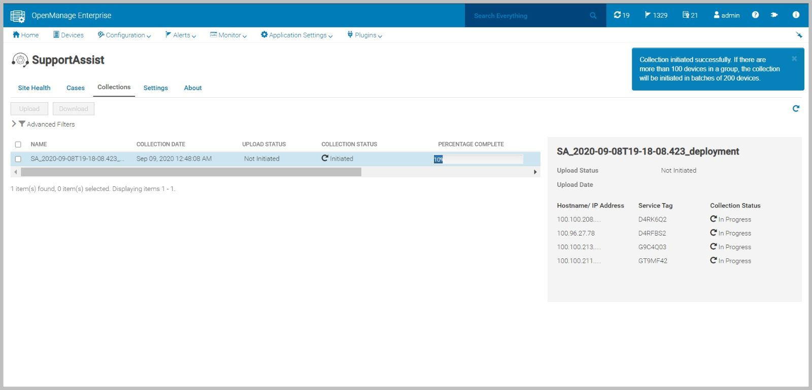 Dell EMC OpenManage Enterprise SupportAssist