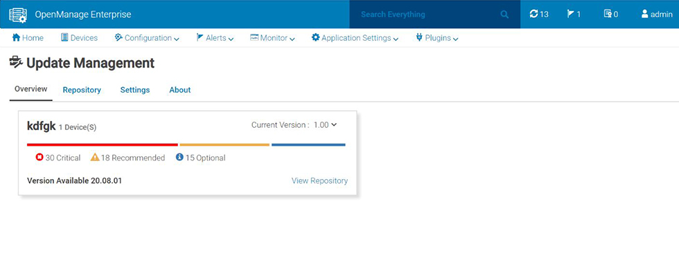 Dell EMC OpenManage Enterprise Update Manager