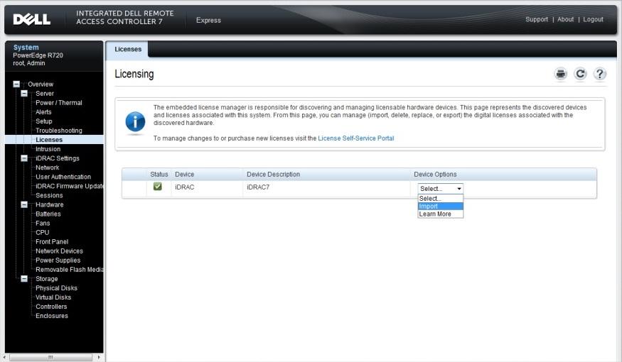 Dell EMC iDRAC7