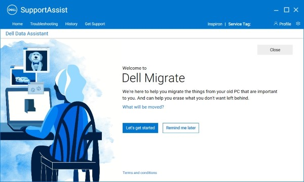 New PC (Dell Migrate Welcome Screen)