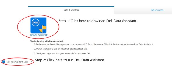 Old PC (Download and run Dell Data Assistant.exe)