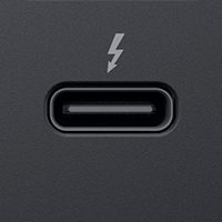 USB-C with Thunderbolt 3 connector