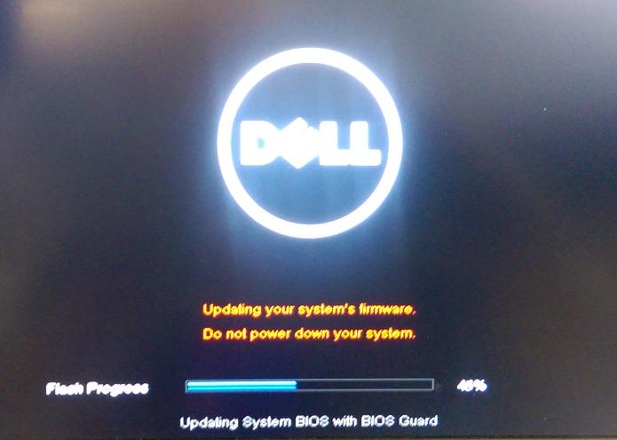 BIOS update progress indicator