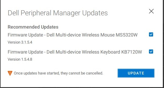 Peripheral Manager Software Updates