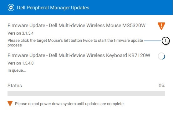 Peripheral Manager Software Updates for RF Devices