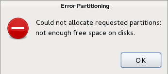 partitioning error message screenshot