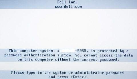 Hard Drive Password Prompt