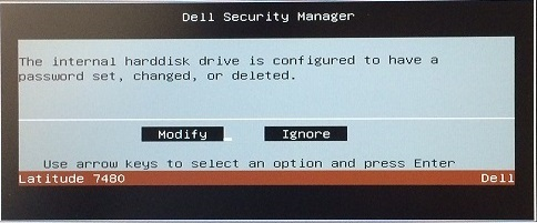 CCTK HDD Password Removal Prompt