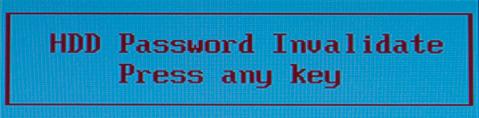 HDD Password Invalidate