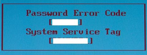 Password Error Code