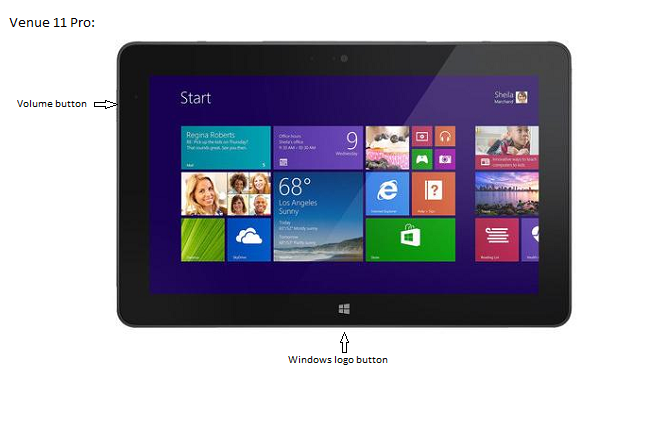 How To Take A Screenshot On A Dell Venue Tablet With Windows 8 1 Or Windows Rt 8 1 Installed Dell Us