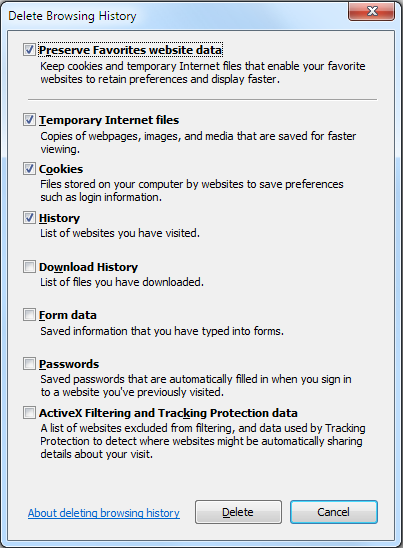 A Guide To Clearing Your Browser History In Windows Operating Systems Dell Us