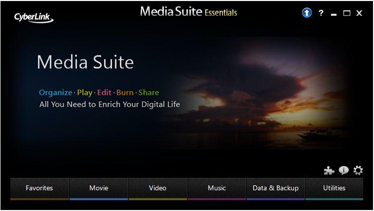SLN155251_en_US__11373542109906.CyberLink Media Suite Essentials Home Page