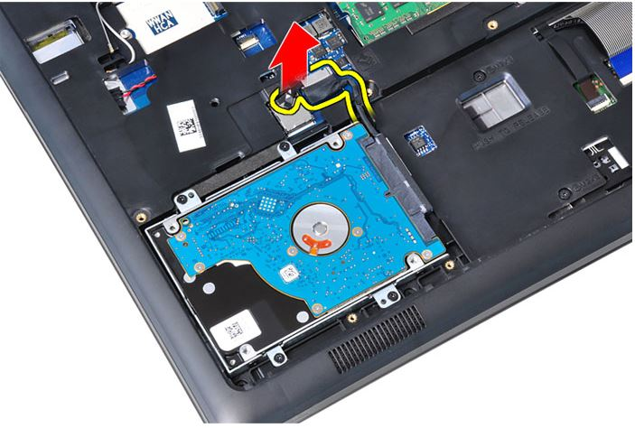 Latitude E5550 Removal Guide For The Hard Drive With Bracket Hard Drive With Isolation Msata Ssd Wlan Card And Wwan Dell Us