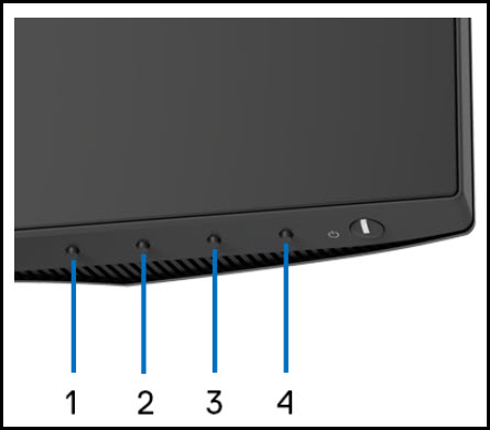illustration of front panel buttons