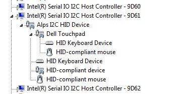 SLN306358_de__6Touchpad showing under 9D61 I2C Host Controller