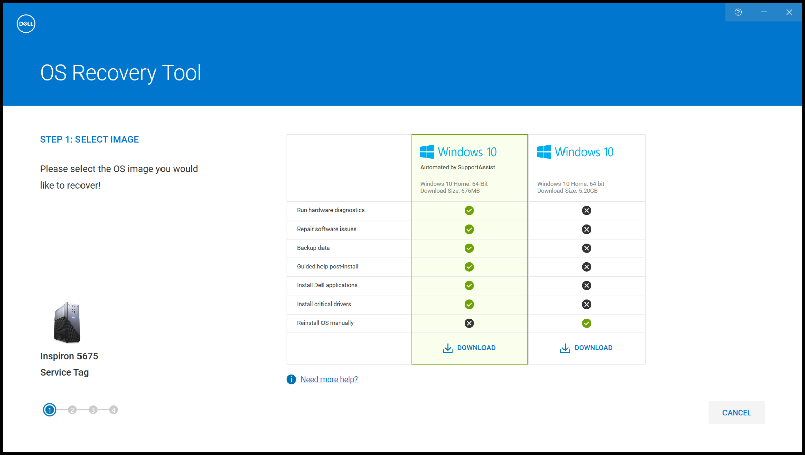 Difference between Windows 10 Automated by SupportAssist and Windows 10 images