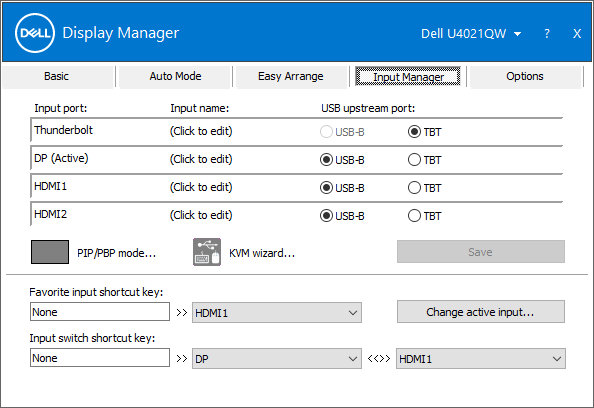 Input Manager: