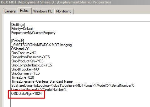 HOW11493_cs__15MDT Deployment Share Rules Properties